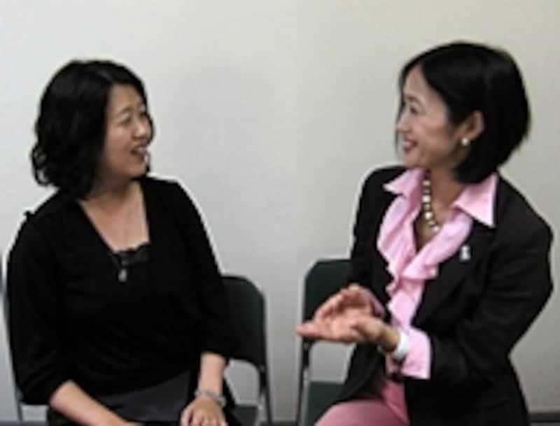 猪熊弘子さん、大葉ナナコさん