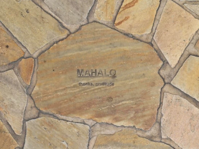 MAHALO(マハロ)=ありがとうの意味