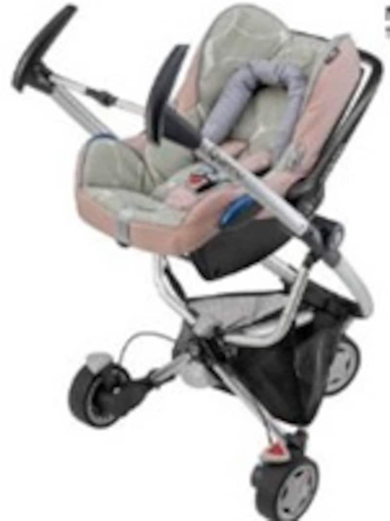 マキシコシのベビーシートを組み合わせれば、新生児から使用可能