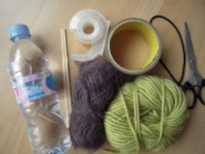 毛糸のシュシュ材料