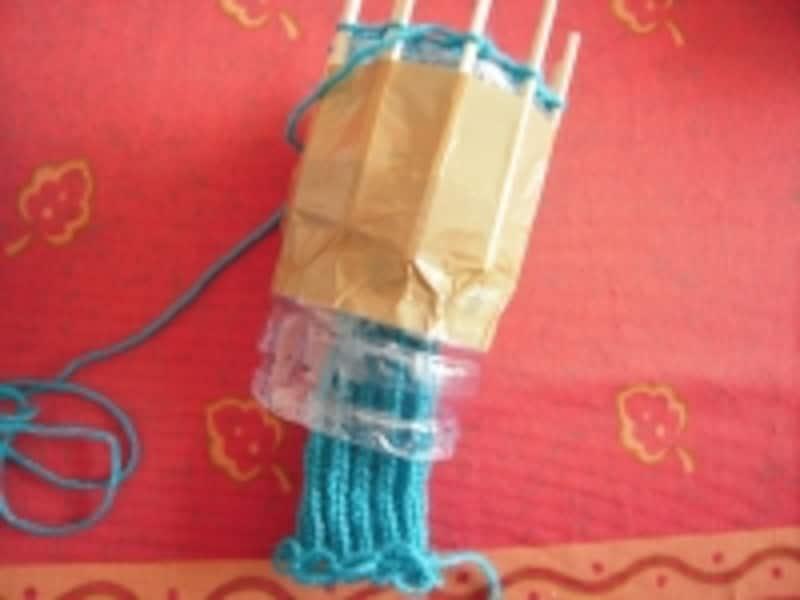 毛糸のシュシュ手順12