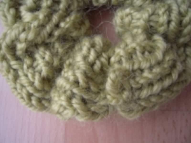 毛糸のシュシュ手順19