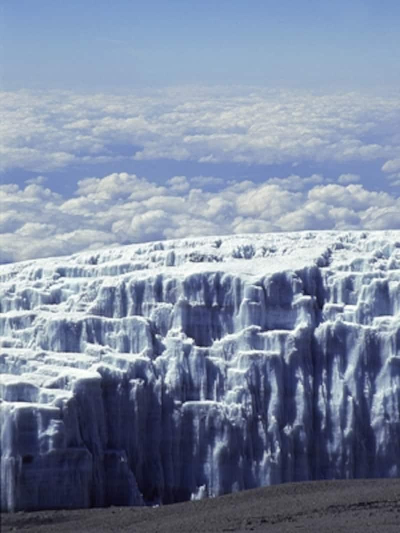 キリマンジャロの氷河と雲海