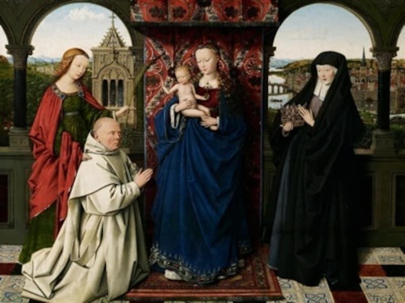 細部の表現に目をみはるファン・エイクの聖母子像はNYから来ました?FrickCollection,NewYork