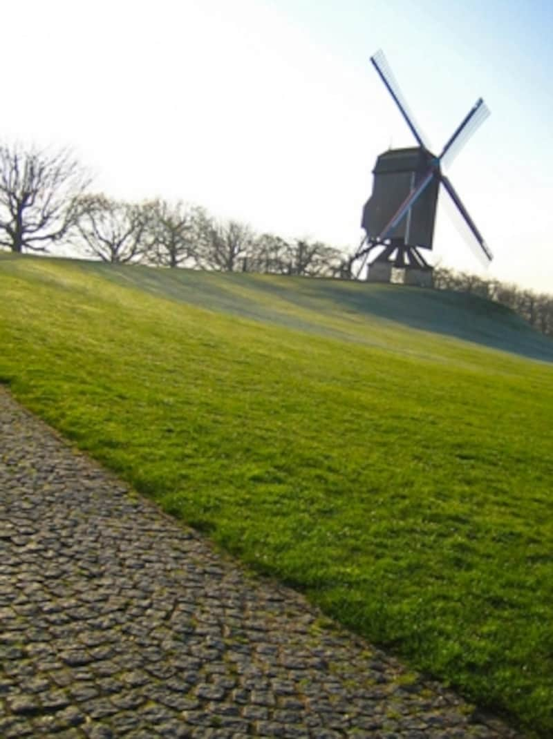 ブルージュ郊外の風車