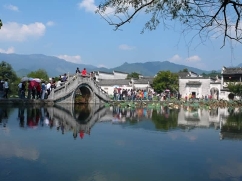 宏村南湖の石橋