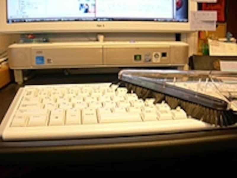 周囲にぐるりと柔らかめのブラシがついているソフトブラシ。キーボードやルーパーの掃除に最適