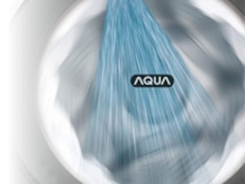 オゾン水と高速シャワーで、少ない水でより効率よくすすぐことができ時短に!(※画像:SANYOサイトより)
