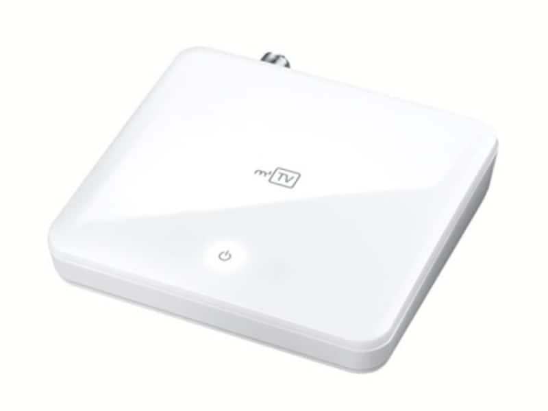 m2TV(GV-MACTV)Mac用地デジ対応TVキャプチャBOX:Macと並べても違和感のないホワイトカラーで、メーカー希望小売価格は21,000円となっています