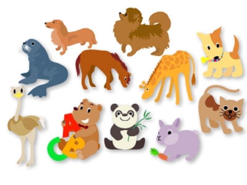 動物のかわいいイラスト素材集 Web素材 All About