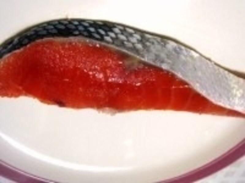 赤みが強くとても美味しい紅鮭