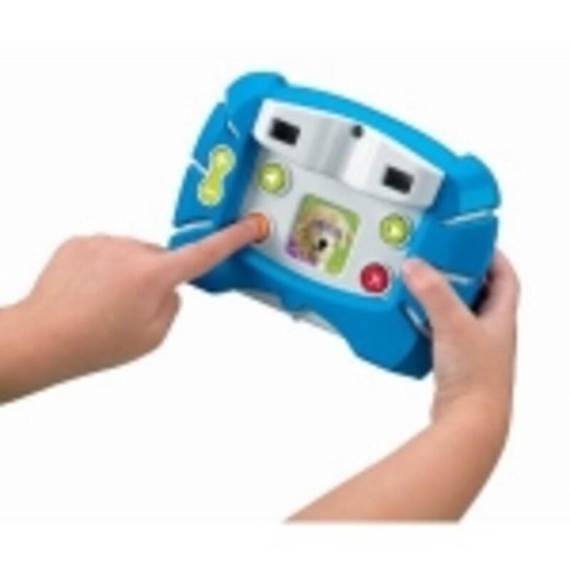 大きなボタンでカンタン操作。男の子にはブルーがおすすめ!