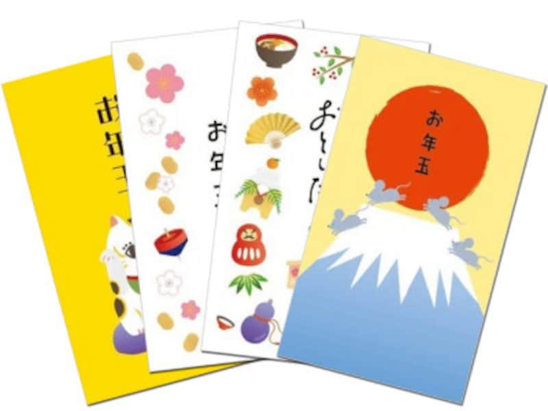 ポチ袋・お年玉袋印刷ダウンロード無料手作り 和てんぷ