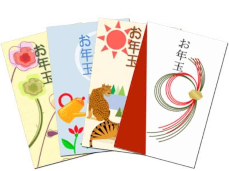 ポチ袋・お年玉袋印刷ダウンロード無料手作り 楽しもうOfficeテンプレートお年玉袋