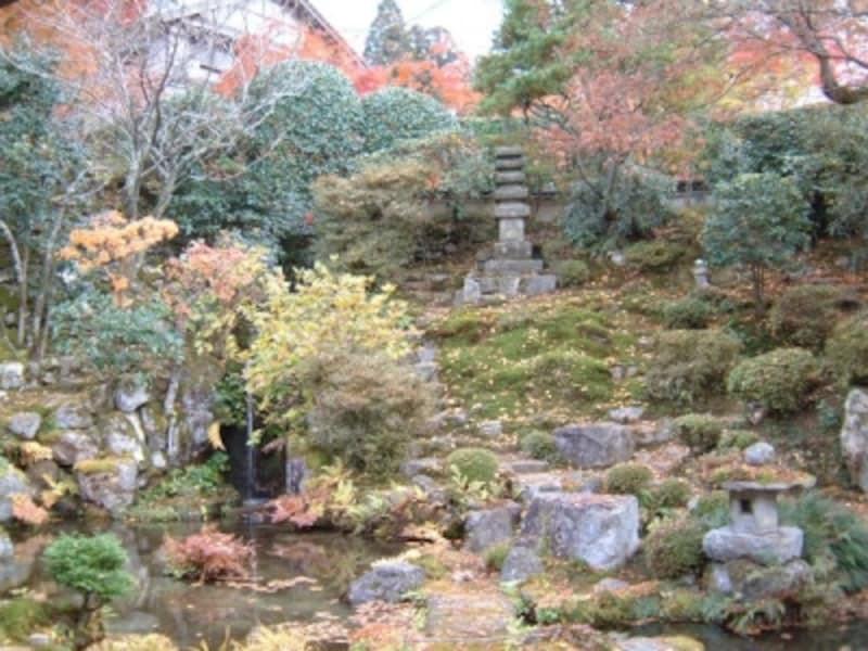 実光院の客殿から眺める庭園、契心園