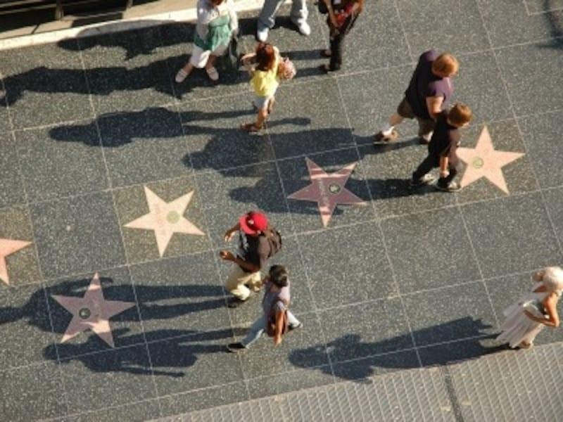 有名撮影原画の1つハリウッドブルーバード