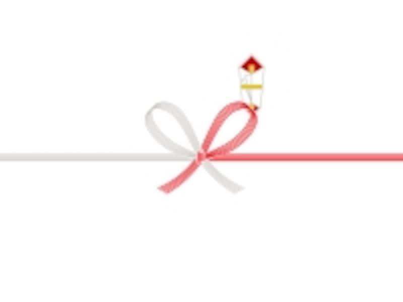 引越しの挨拶では紅白の花結び(蝶結び)を使う