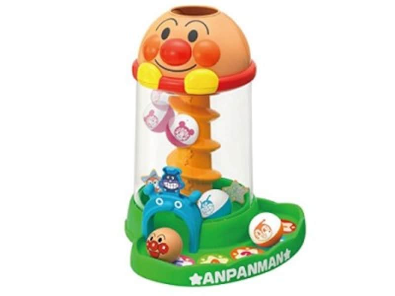 1歳クリスマスプレゼントおもちゃランキング第10位『アンパンマンにぎって!おとして!くるコロタワー』