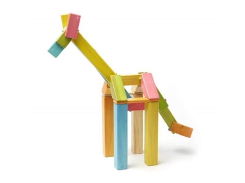 1歳クリスマスプレゼントおもちゃランキング第3位『テグ 積み木マグネットブロック42ピース/ティントTYTU00501』