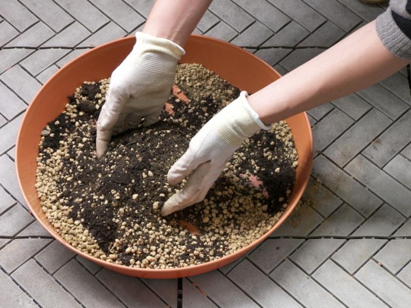 プランター用の土(培養土)の作り方手順2