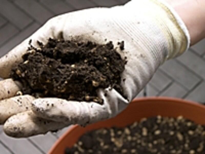 家庭菜園向け、手作り培養土の手順3