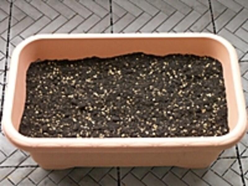 家庭菜園向け、手作り培養土の手順6