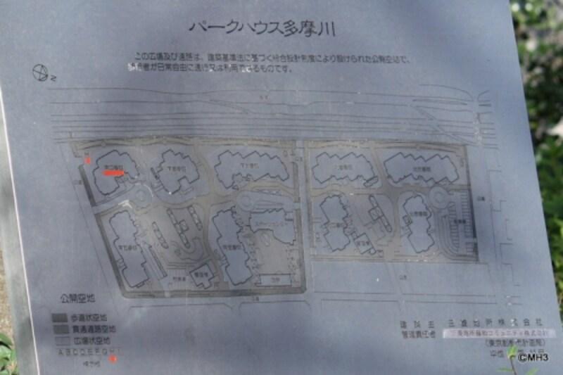 「パークハウス多摩川」敷地配置図