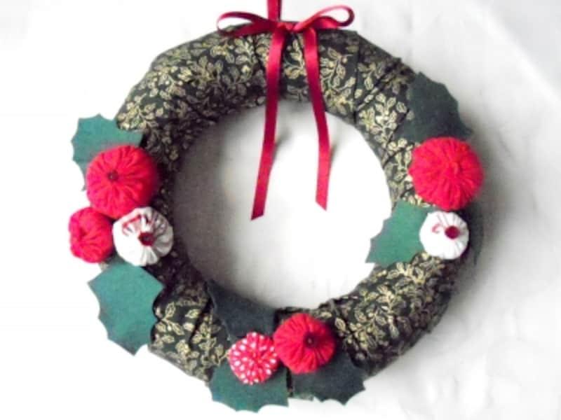 簡単クリスマスリースの作り方