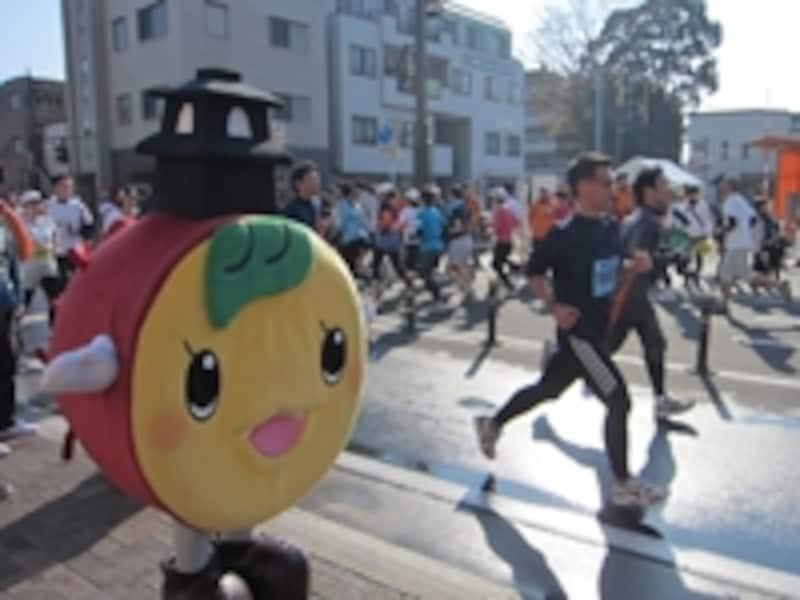 川越市のゆるキャラ「ときも」くん。特産のサツマイモと名所の「時の鐘」から命名