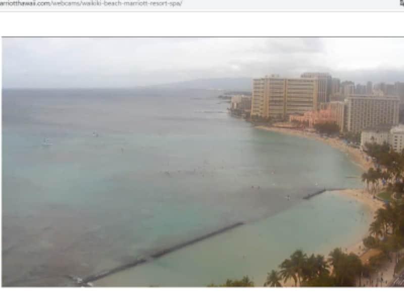 ワイキキ・ビーチ・マリオットのウェブカメラ