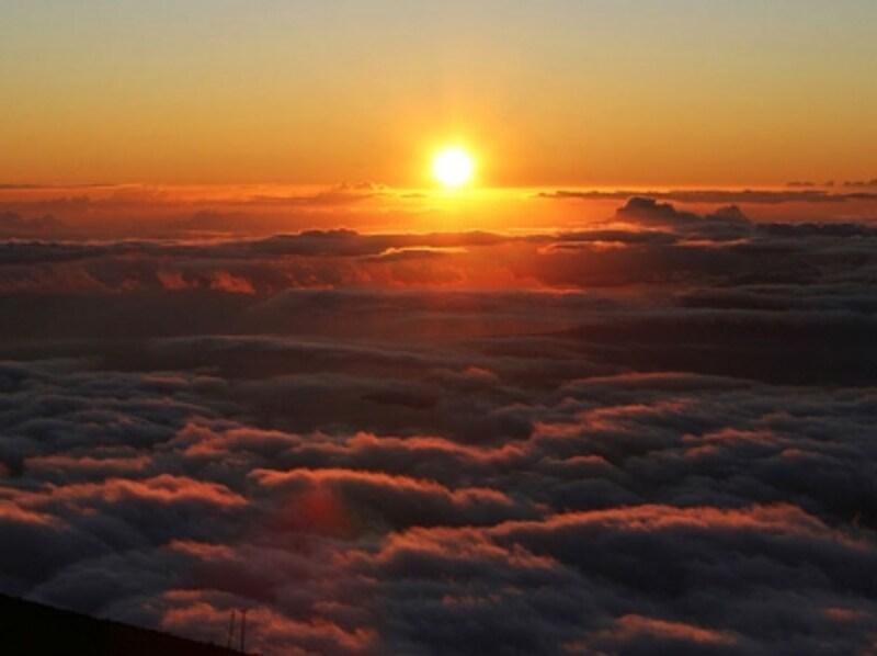 ハワイ最高峰、ハワイ島マウナ・ケアのサンライズ