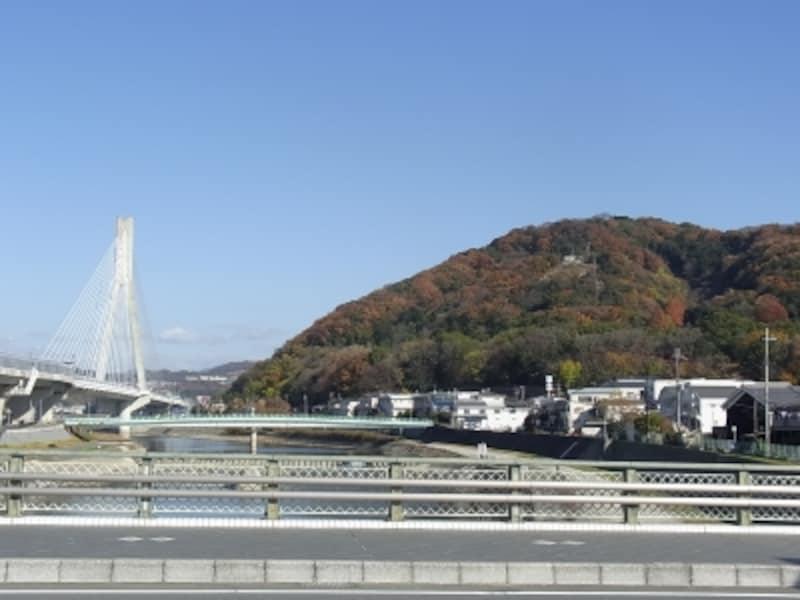 猪名川と五月山