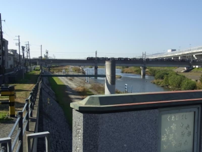 くれは橋と猪名川