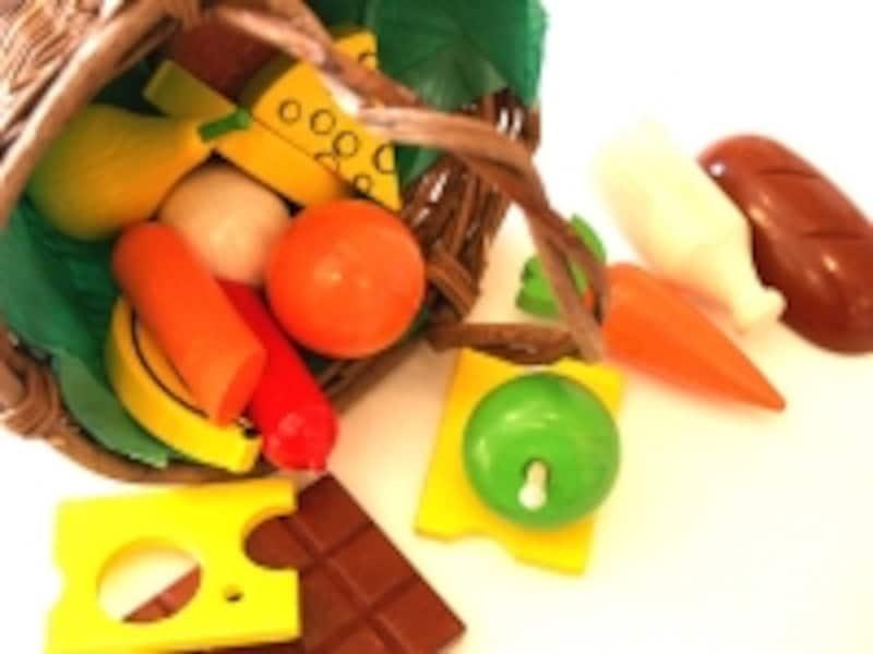 食材のおもちゃでごっこ遊びは本気モードに!