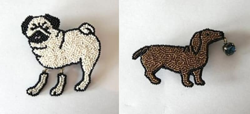 犬、ネコ、ウサギなど動物モチーフは特に人気。