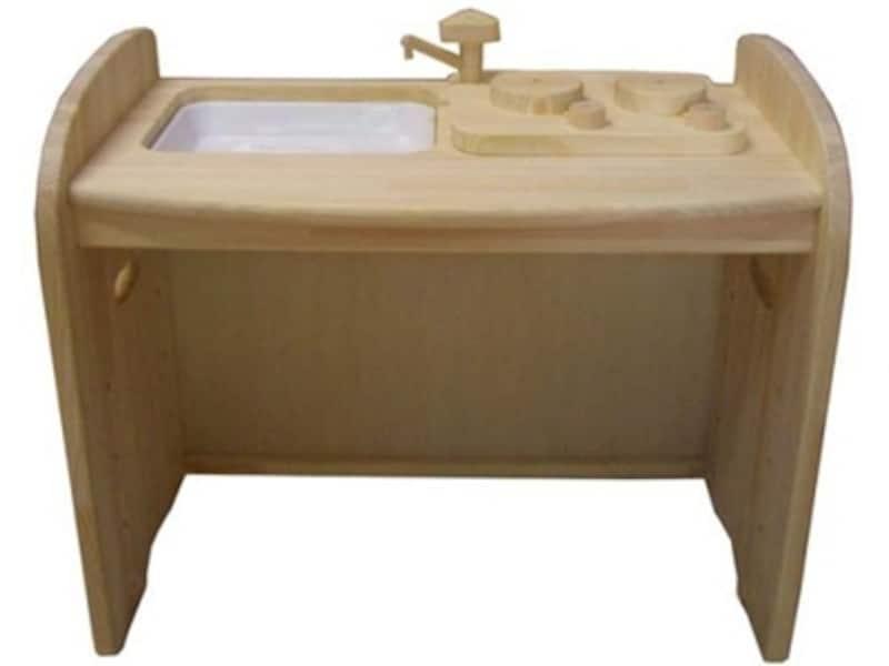 木遊舎ひのきキッチンテーブル(白木)