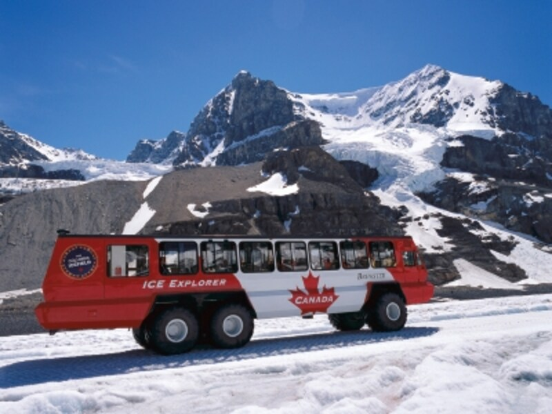 ロッキー観光の定番、雪上車観光undefined(C)TravelAlberta