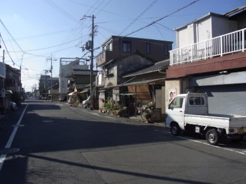 岸和田街並、港側