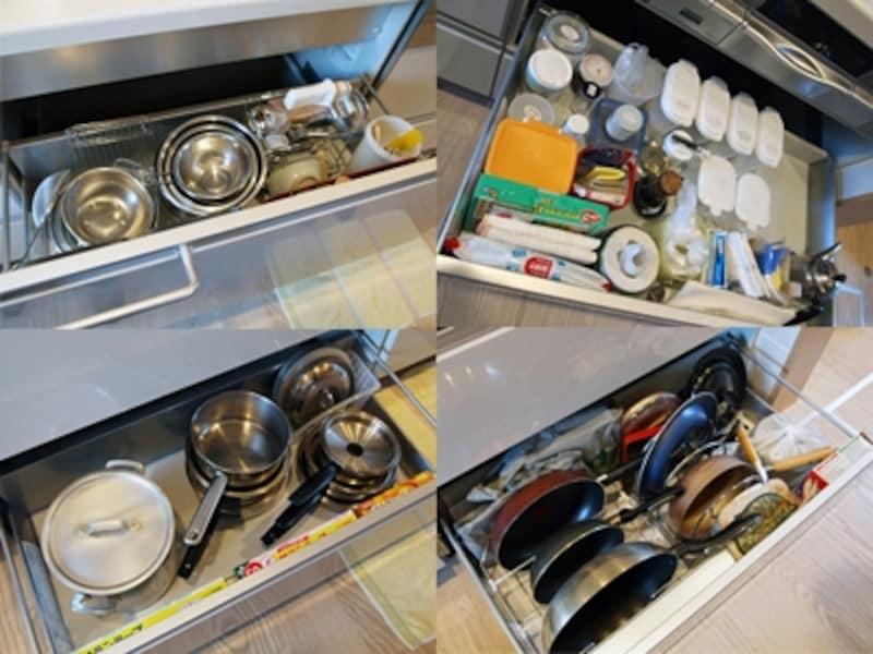 システムキッチンの引き出し収納