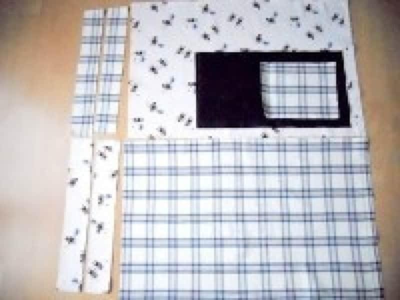 レッスンバッグ作り方・手作り|縫い代線で布を裁断
