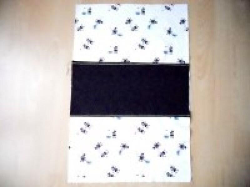 レッスンバッグ作り方・手作り|切り替え布を表布に付ける