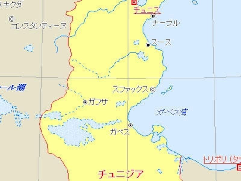 地中海に面した北アフリカの国・チュニジアは、カルタゴ遺跡で有名。