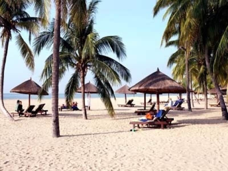 春節「人気の観光地、海南島、三亜」