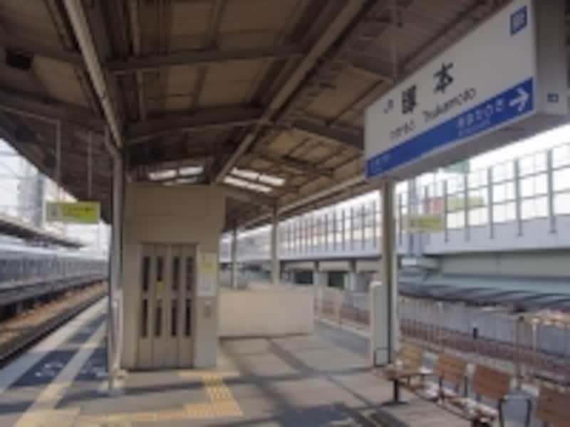 JR塚本駅と阪神高速11号池田線