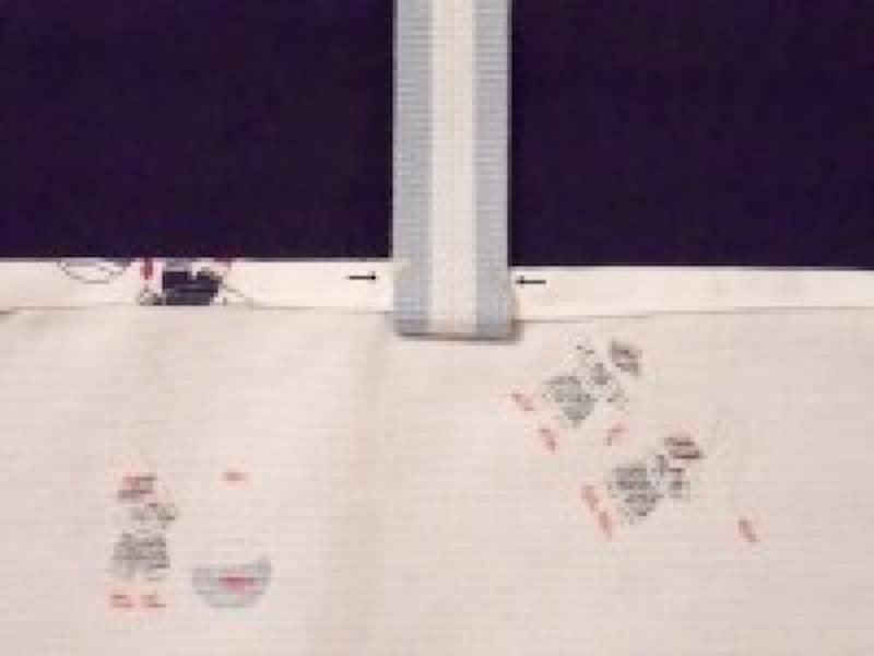 シューズケース/上履き入れ(上履き袋)作り方 持ち手を上向きに折り返し縫う