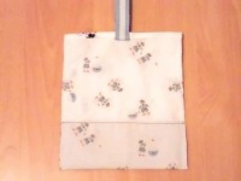 シューズケース/上履き入れ(上履き袋)作り方 底で半分に折り脇を縫う