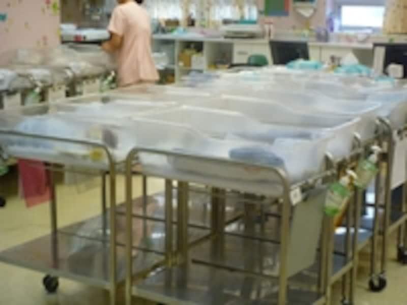 韓国の新生児室
