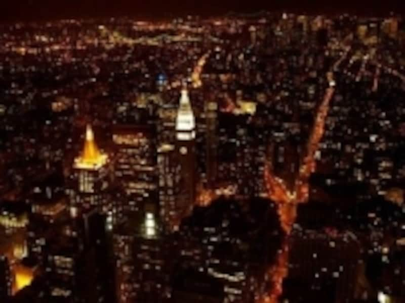 102階からの眺めたるや、圧巻!