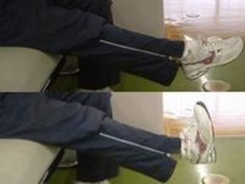 足首のストレッチ