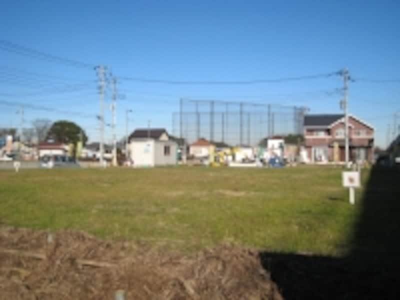 分譲中の宅地